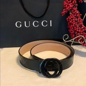 Gucci authentic belt size 44 black